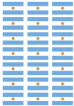 Argentina Flag Stickers - 21 per sheet